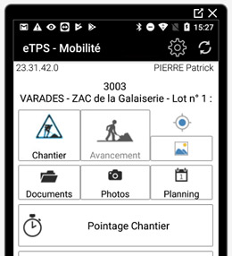 application mobile pour planning de chantier